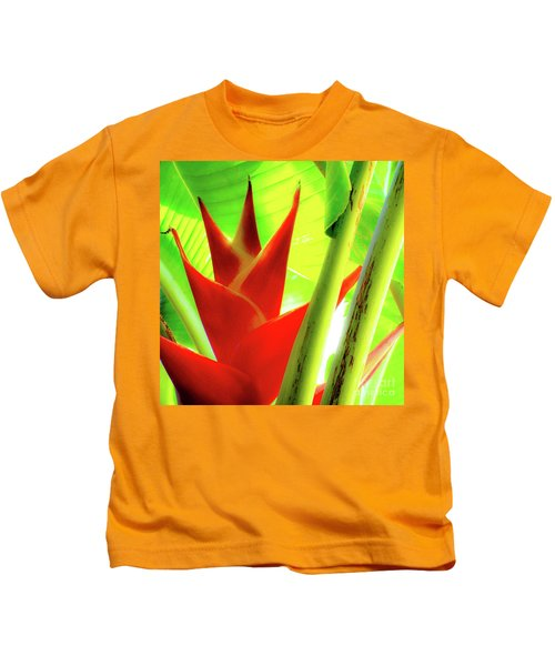 Red Heliconia Plant Kids T-Shirt