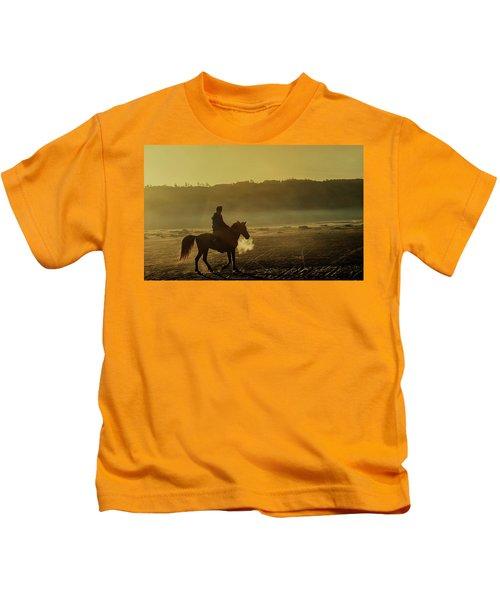 Riding His Horse Kids T-Shirt