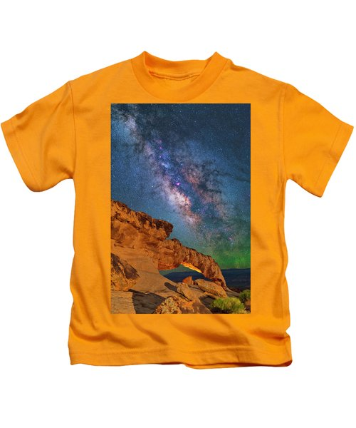 Riding Over The Arch Kids T-Shirt