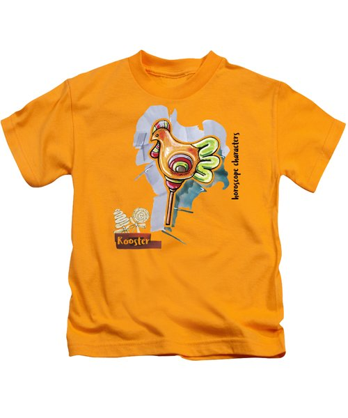 Rooster Horoscope Kids T-Shirt