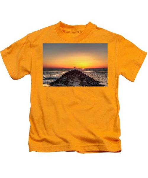 Rudee Inlet Jetty Kids T-Shirt