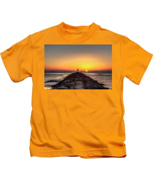 Rudee Inlet Jetty Kids T-Shirt