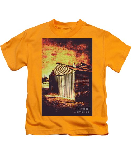 Rusty Outback Australia Shed Kids T-Shirt