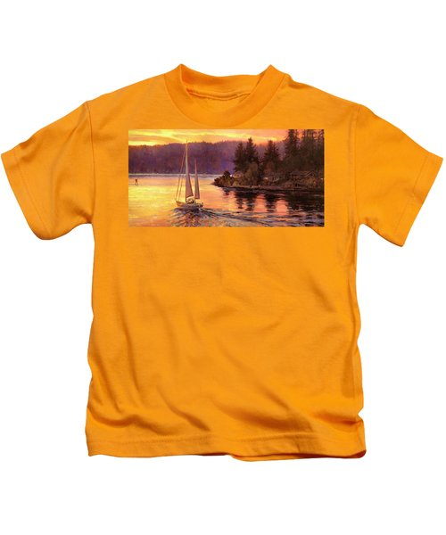 Sailing On The Sound Kids T-Shirt