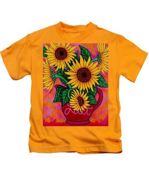 Saturday Morning Sunflowers Kids T-Shirt