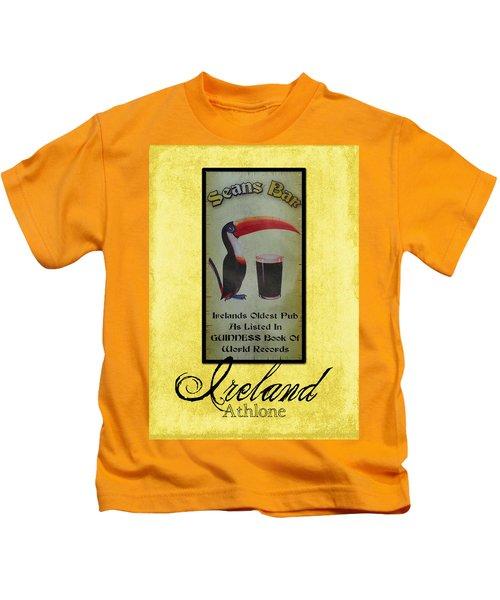 Seans Bar Guinness Pub Sign Athlone Ireland Kids T-Shirt