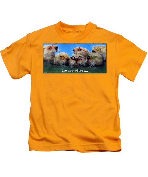 See Otters... Kids T-Shirt by Will Bullas