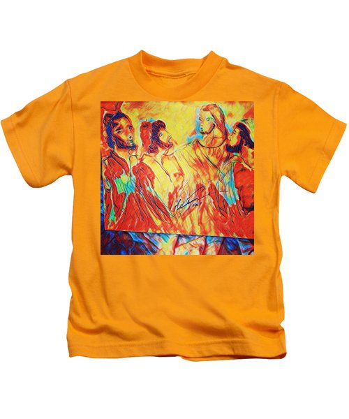 Shadrach, Meshach And Abednego In The Fire With Jesus Kids T-Shirt