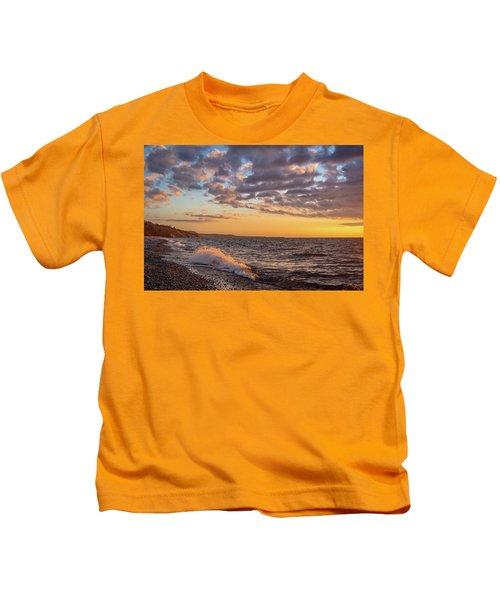 Springtime On Agate Beach Kids T-Shirt