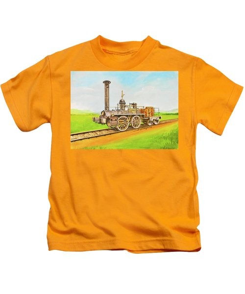 Steam Engine Mississippi Kids T-Shirt