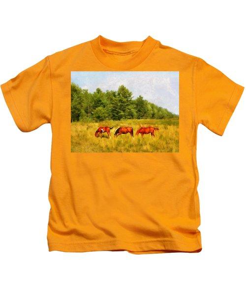 Summer Hay Burners Kids T-Shirt