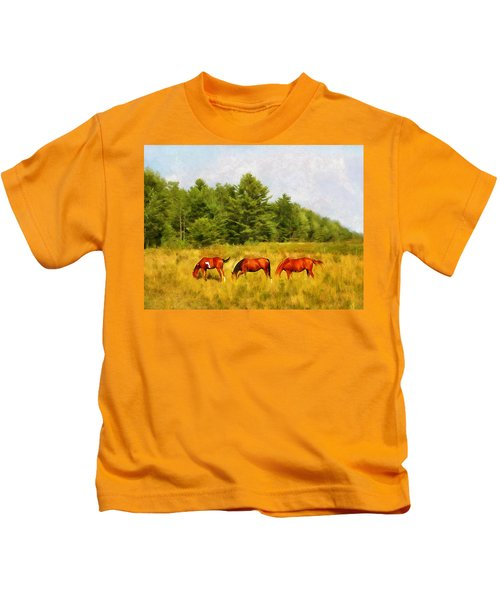 Summer Hay Burners Kids T-Shirt