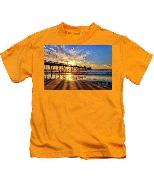 Sun And Shadows Kids T-Shirt