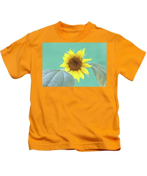 Sunflower In The Summer Time Kids T-Shirt