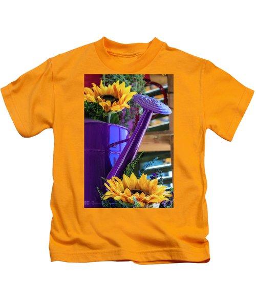 Complementary Sunflowers Kids T-Shirt