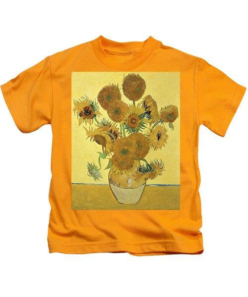 Sunflowers, 1888  Kids T-Shirt