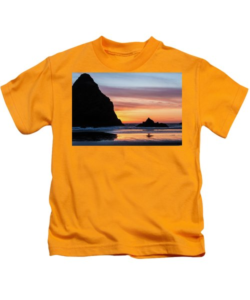 Sunset At Whalehead Beach Kids T-Shirt