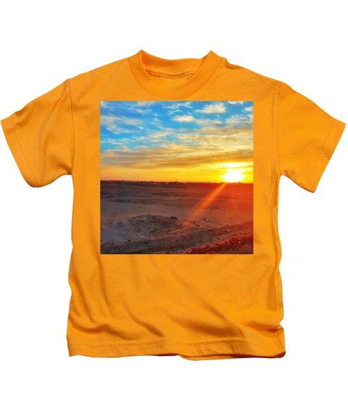 Sunset In Egypt Kids T-Shirt