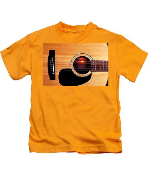 Sunset In Guitar Kids T-Shirt