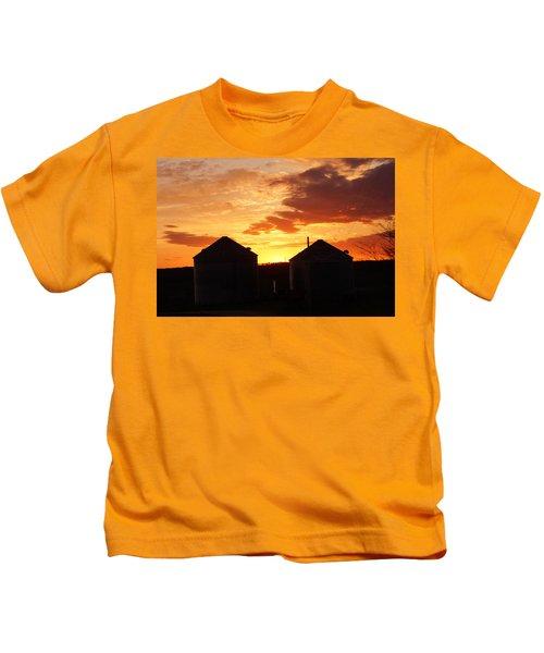 Sunset Silos Kids T-Shirt