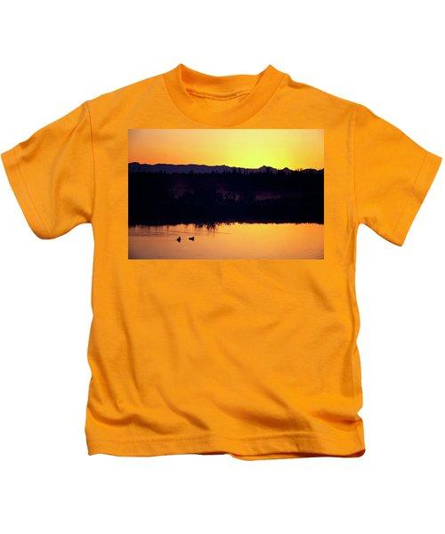 Sunset Swim Kids T-Shirt