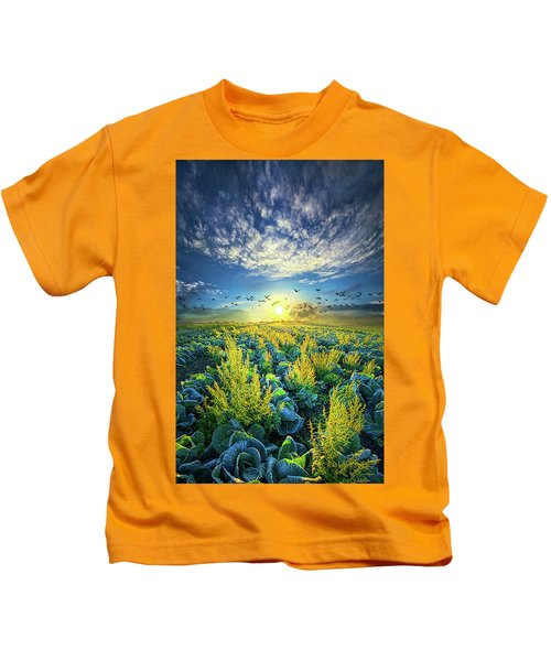 That Voices Never Shared Kids T-Shirt by Phil Koch