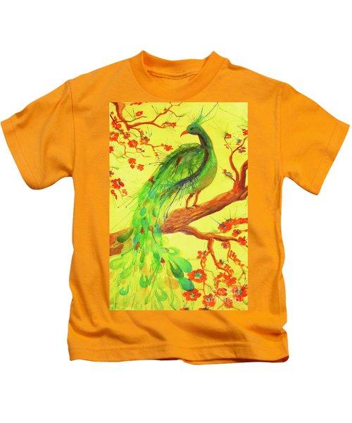 The Auspicious Peacock Kids T-Shirt