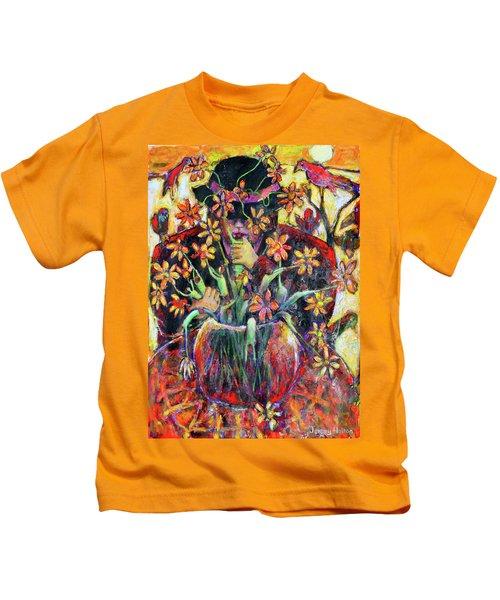 The Flower Arranger Kids T-Shirt