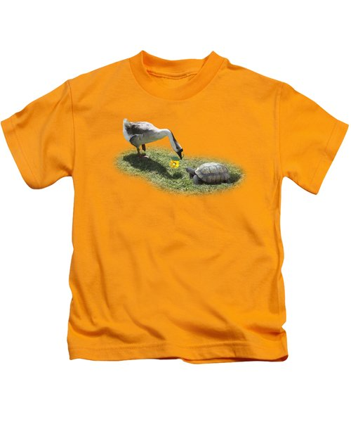 The Goose And The Turtle Kids T-Shirt by Gravityx9   Designs