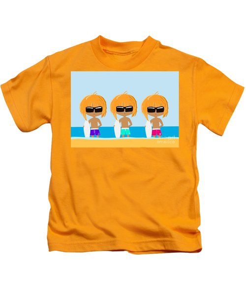 The Surfing Triplets Kids T-Shirt