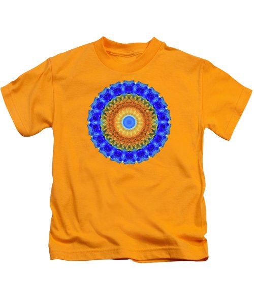 Third Eye Mandala Art By Sharon Cummings Kids T-Shirt