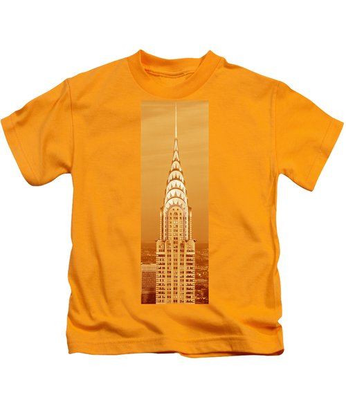Chrysler Building At Sunset Kids T-Shirt