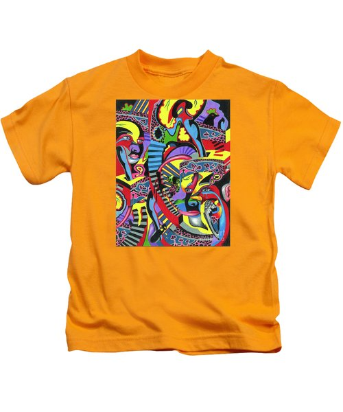 Three Disguises Of An Abstract Thought Kids T-Shirt