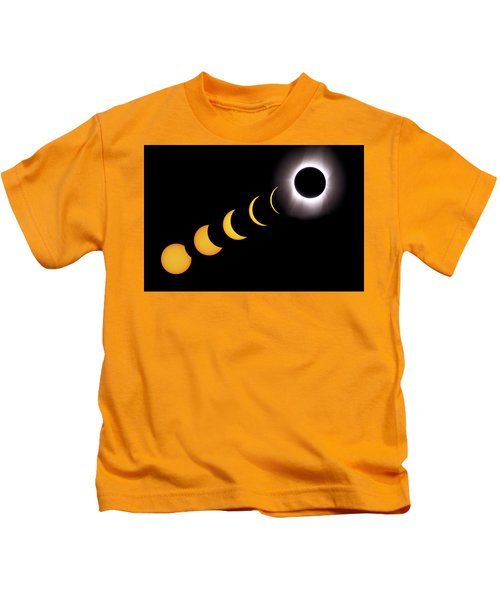 Total Eclipse Sequence, Aruba, 2/28/1998 Kids T-Shirt