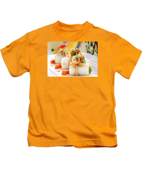 Traditional Chinese Hakka Rice Noodle Roll Kids T-Shirt