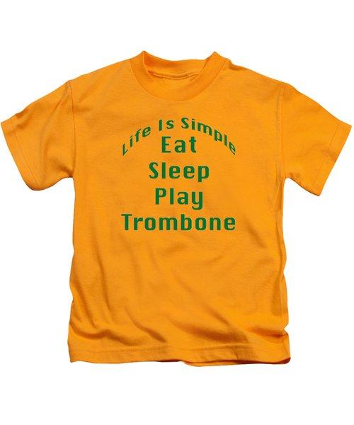 Trombone Eat Sleep Play Trombone 5517.02 Kids T-Shirt by M K  Miller