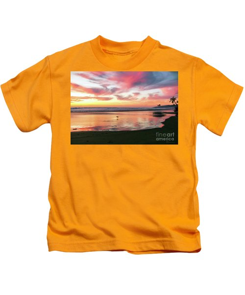 Tropical Sunset Island Bliss Seascape C8 Kids T-Shirt