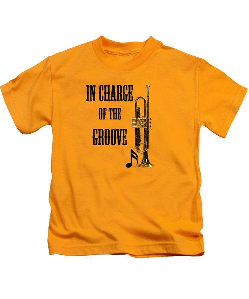 Trumpets In Charge Of The Groove 5536.02 Kids T-Shirt by M K  Miller