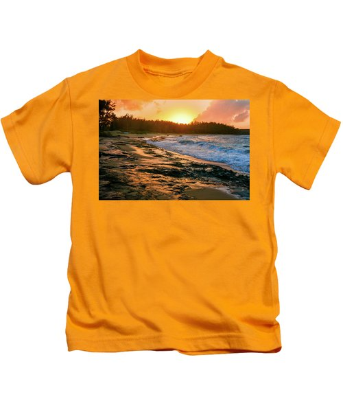Turtle Bay Sunset 2 Kids T-Shirt