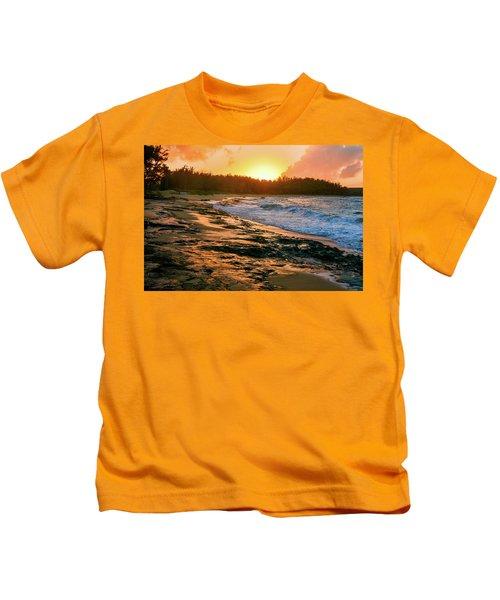 Turtle Bay Sunset 2 Kids T-Shirt