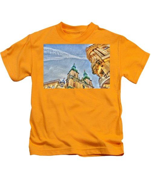 University Church In Budapest Kids T-Shirt