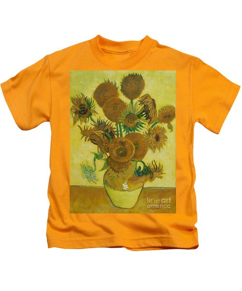 Vase Withfifteen Sunflowers Kids T-Shirt