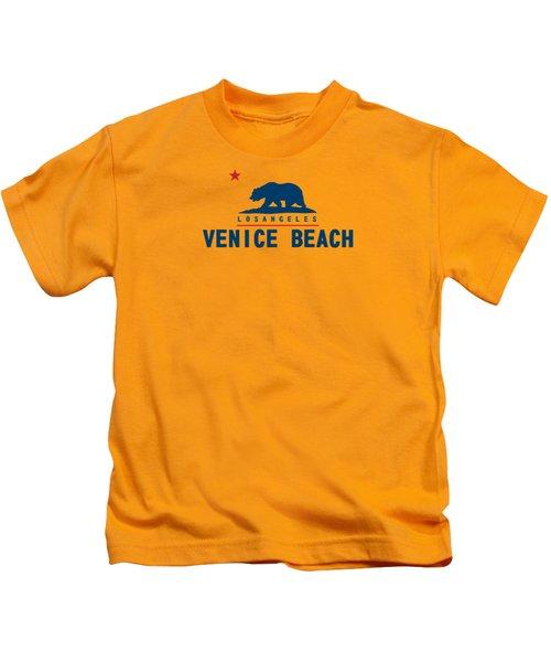 Venice Beach La. Kids T-Shirt by Lerak Group LLC