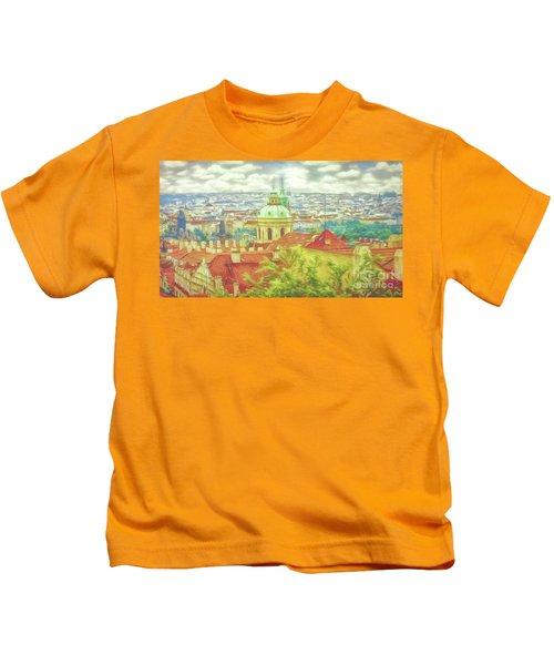 View From The High Ground - Prague  Kids T-Shirt