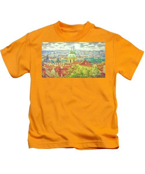 View From The High Ground - Prague  Kids T-Shirt
