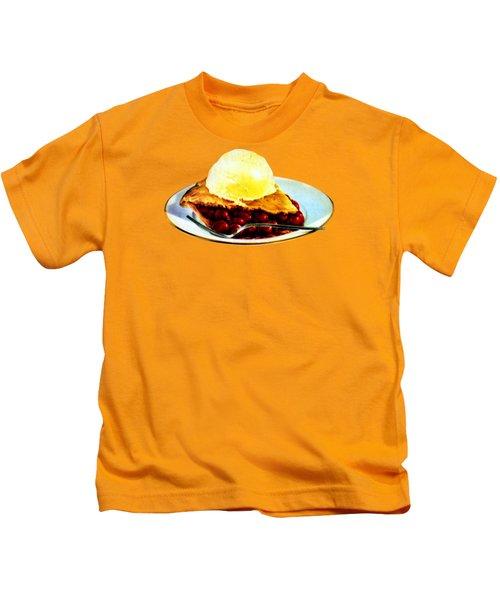 Vintage Pie A La Mode Kids T-Shirt by Historic Image