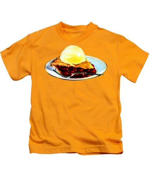 Vintage Pie A La Mode Kids T-Shirt