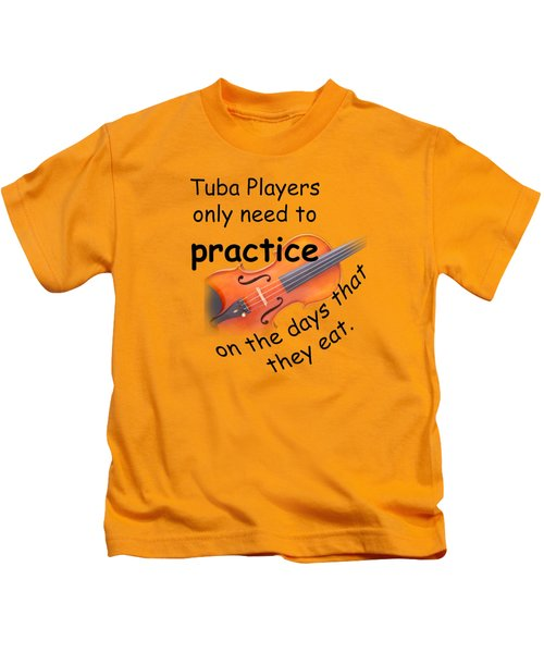 Violin Viola Practice When You Eat For T Shirts  Or Posters 4832.02 Kids T-Shirt by M K  Miller