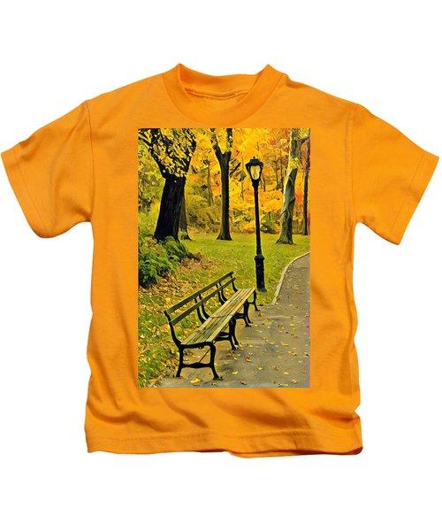 Washington Square Bench Kids T-Shirt