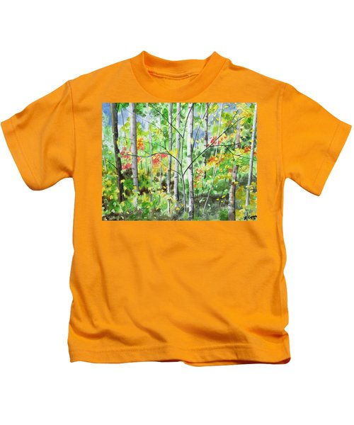 Watercolor - Northern Forest Kids T-Shirt